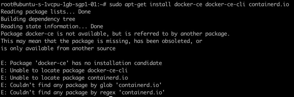 error containerd not found