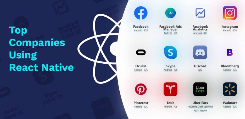 Những công ty đang sử dụng React Native để xây dựng ứng dụng của họ