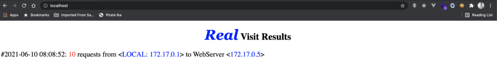 result simple service docker
