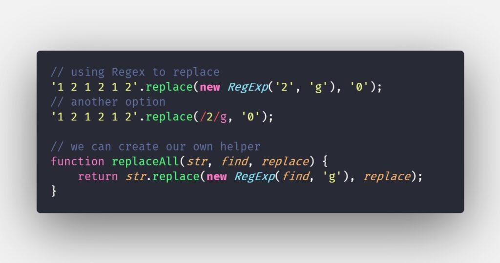 javascript-es2021-replaceAll