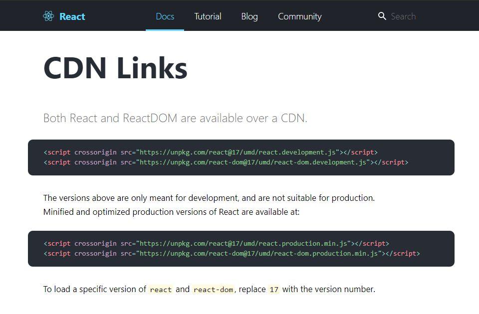 Sử dụng ReactJS thông qua CDN