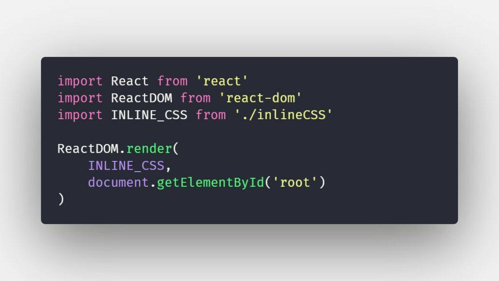 Làm việc với inline CSS trong ReactJS