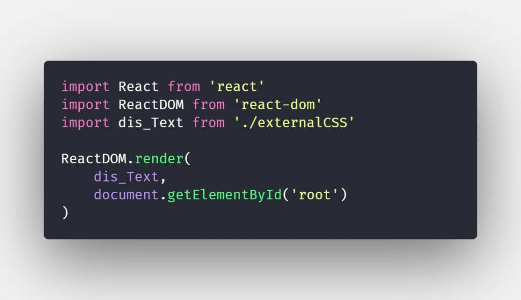 Làm việc với external CSS trong ReactJS